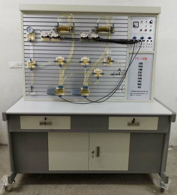 铝槽式铁桌气动PLC控制实验台,液压PLC实验室 上海硕博教学仪器图片