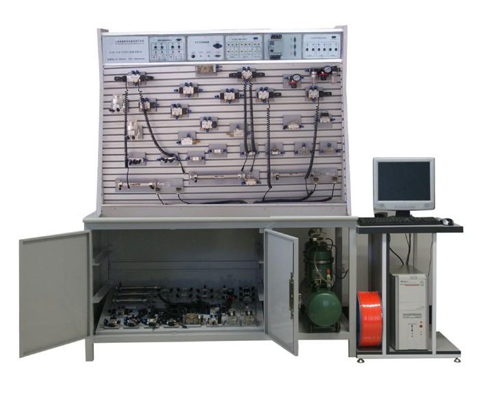 气动PLC控制实验实训设备,气动液压PLC综合控制实验室设备图片