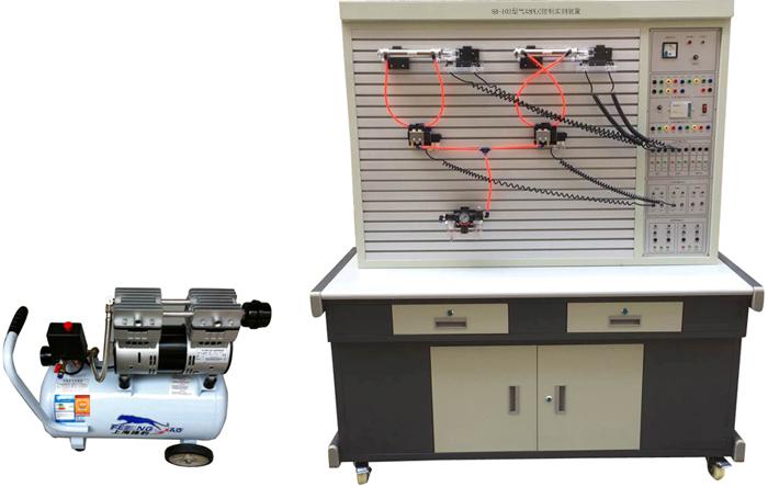SQY-01透明液压与气动综合控制实验台 一、概述 气动-液压继电器综合控制实验室是我公司根据高校机电一体化对气、电、液控制的教学大纲要求,我公司气动继电器控制与液压继电器控制实验设备的优点,采用了开放型综合实验台结构,广泛征求专家教授与老师的意见,经不断创新改进研制而成的。是目前集气动控制技术、液压传动控制技术以继电器控制的理想的综合性实验设备。实验可以让学生直观、感性地对比、了解气、电、液各自具有的特点、特色、及优缺点等。 液压实验元件均为透明有机材料制成,透明直观。便于了解掌握几十种常用液压元件