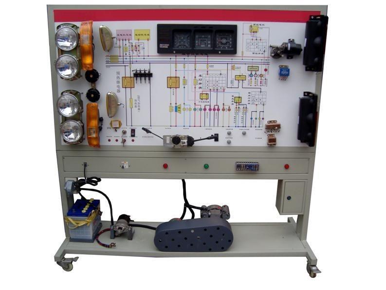 SB-TFDJ拖拉机发动机燃料系统实训台 一.产品简介 本产品选用拖拉机柴油发动机燃油喷射系统实物,展示拖拉机柴油发动机燃油喷射系统的结构与原理;面板上绘有完整的拖拉机柴油发动机燃油喷射系统的原理图,设置有检测端子,可通过仪器仪表检测各种信号参数如电压、电阻、频率等。本示教板功能齐全、操作方便、安全可靠。  二.主要用途 1.适用于各类型院校及培训机构对拖拉机柴油发动机燃油喷射系统理论和维修实训的实训教学需要。 2.适用于各类型院校及培训机构对拖拉机柴油发动机燃油喷射系统模块单元教学需要。 3.适用于