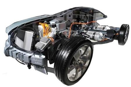 太阳能电动汽车整车解剖模型