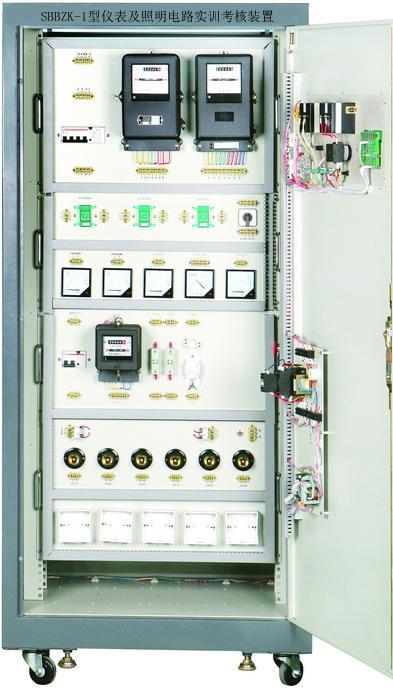 仪表及照明电路实训考核装置(柜式,两面双组型)