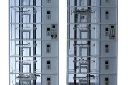 双联六层透明仿真教学电梯模型