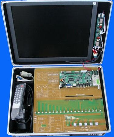 本学习机的实验电路板采用单面板工艺
