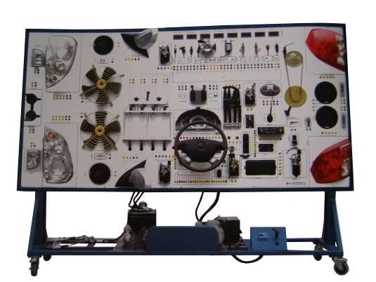 勇士2022全车示教板 一.产品简介:本产品以全新全车电器实物为基础,展示灯光系统、仪表系统、点火系统、起动系统、充电系统、发动机电控系统、喇叭系统、电动车窗系统、电动门锁系统、雨刮系统、电动后视镜系统、音响等各系统的组成结构和工作原理及过程。适用于中高等职业技术院校普通教育类学院和培训机构对汽车全车电器系统的理论和维修实训的教学需要。 本实训台功能齐全、操作方便、安全可靠。  二.主要用途 1.适用于各类型院校及培训机构对汽车电器理论和维修实训的实训教学需要。 2.适用于各类型院校及培训机构对汽车